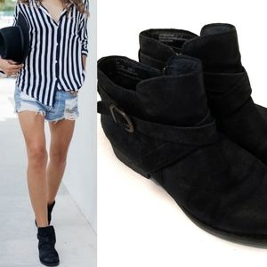 BORN Booties Trinculo Distressed Suede Ankle Boots